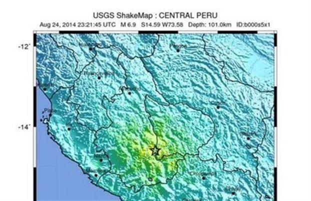 Ισχυρός σεισμός 6,9 βαθμών στο βορειοανατολικό Περού