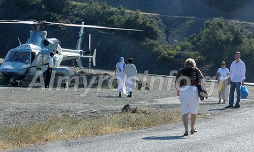 Προσγειώθηκε με ελικόπτερο στην Παναγία Ξενιά