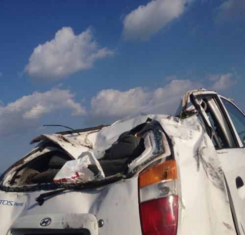 Τροχαίο με εκτροπή αυτοκινήτου στη Λάρισα