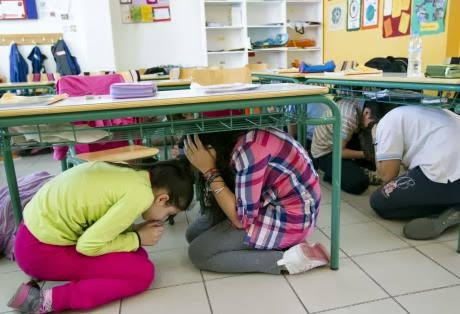 Ασκήσεις ετοιμότητας για σεισμό στα σχολεία