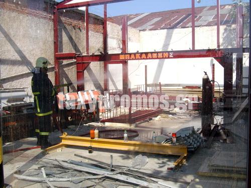 Αποσοβήθηκε ο κίνδυνος από πυρκαγιά κοντά σε φιάλες οξυγόνου