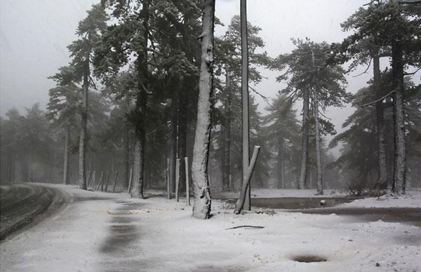 Δύο πόντους χιόνι στην Ανάβρα