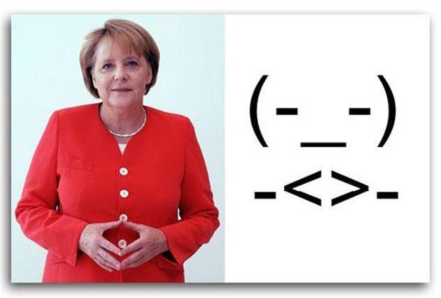 Ιδού το emoticon της Ανγκελα Μέρκελ