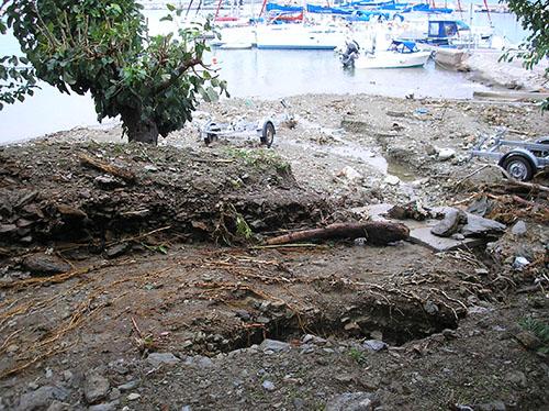 Ζημιές από τη βροχόπτωση