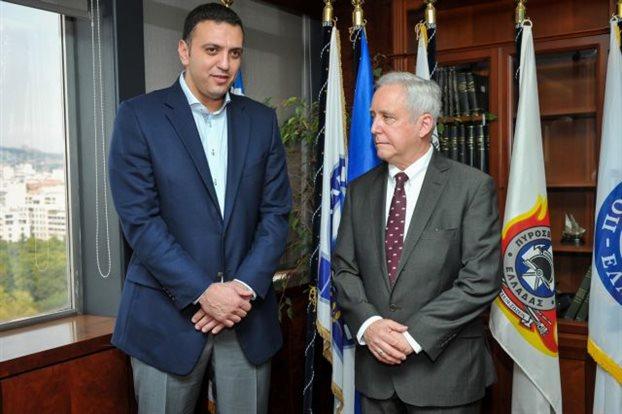 Θέματα ασφάλειας στη συνάντηση Κικίλια-αμερικανού πρέσβη στην Ελλάδα