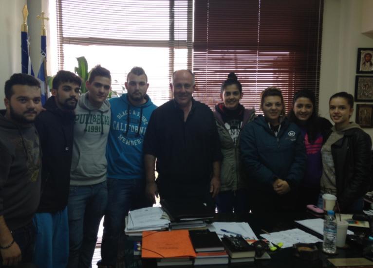 Συνάντηση δημάρχου Ρήγα Φεραίου με τα 15μελή μαθητικά συμβούλια