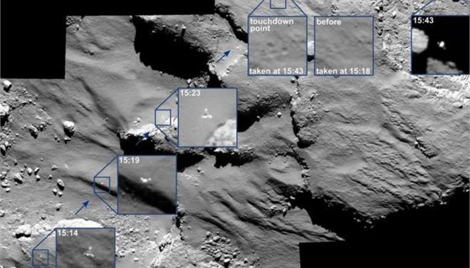 Στη δημοσιότητα φωτογραφίες από την προσεδάφιση του Philae στον κομήτη