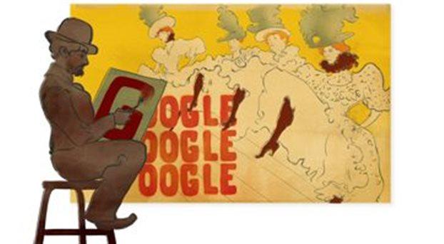 Αφιερωμένο στον ζωγράφο Τουλούζ Λοτρέκ το Doodle της Google
