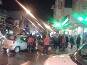 Σφοδρή σύγκρουση αυτοκινήτων πριν απο λίγο στο κέντρο των Τρικάλων