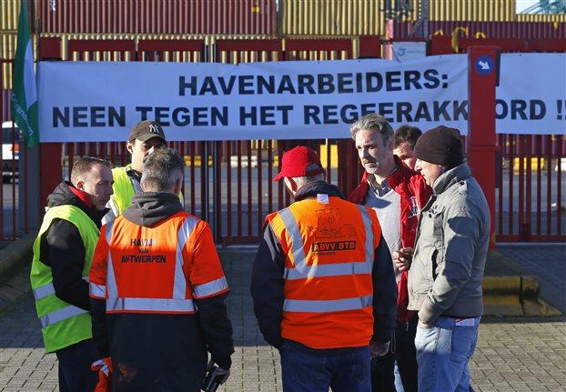 Γενική απεργία κατά πακέτου λιτότητας 11 δισ. ευρώ στο Βέλγιο