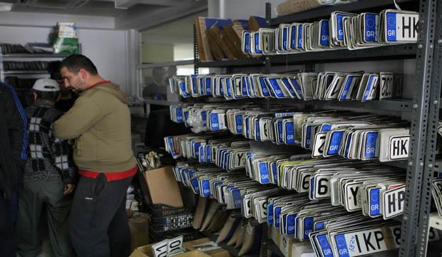 Αποσύρθηκαν 790 πινακίδες κυκλοφορίας