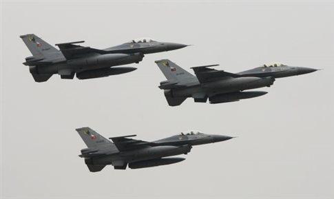 Οπλισμένα τουρκικά αεροσκάφη αναχαιτίσθηκαν από ελληνικά μαχητικά