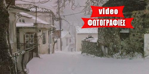 Βυθίστηκε στο χιόνι ο Έβρος - Διακοπή κυκλοφορίας στη Σαμοθράκη