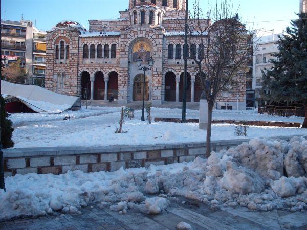 Κλειστοί ναοί λόγω χιονιού
