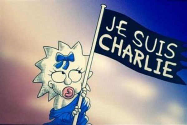 Οι Simpsons υψώνουν σημαία «Je Suis Charlie»
