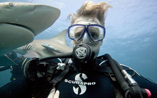 Βάζοντας selfie με καρχαρίες