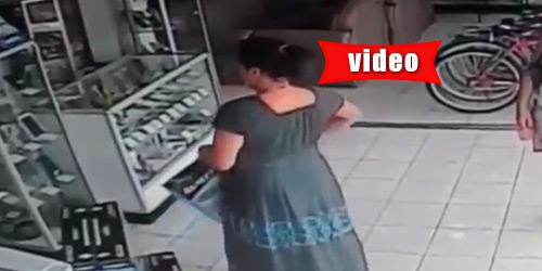 Έκλεψε τηλεόραση και την έκρυψε κάτω από το φόρεμά της