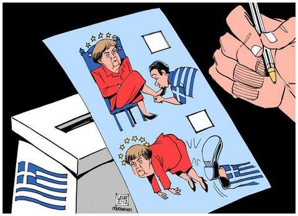 «Οι Ελληνες έδωσαν κλωτσιά στη Μέρκελ»
