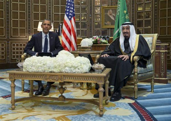 Ο βασιλιάς Σαλμάν υποδέχθηκε τον Ομπάμα στη Σαουδική Αραβία