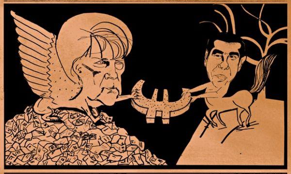 Guardian: Η Σφίγγα Μέρκελ και ο Κένταυρος Τσίπρας