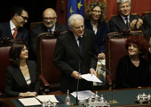 Ορκίστηκε ο νέος πρόεδρος της Ιταλίας Σέρτζιο Ματαρέλα