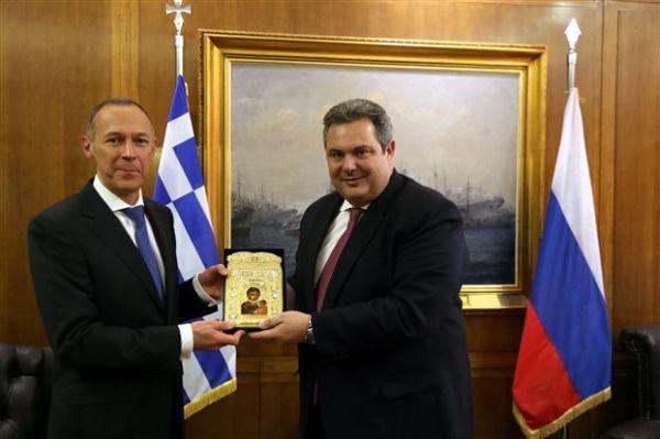 Συναντήσεις Καμμένου με τους πρέσβεις Ρωσίας-ΗΠΑ