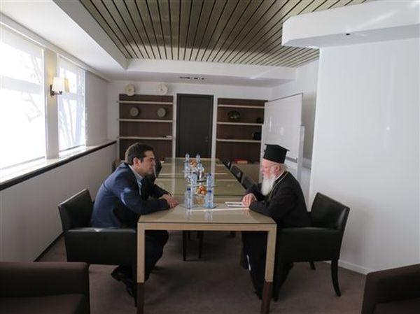 Με τον Οικουμενικό Πατριάρχη συναντήθηκε ο πρωθυπουργός