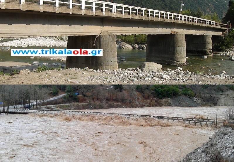 Ακατάλληλη η γέφυρα Κοράκου-κλειστή η Ε.Ο. Καρδίτσας-Άρτας