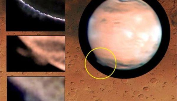 Μυστηριώδες σύννεφο στον Αρη εκτείνεται μέχρι το Διάστημα