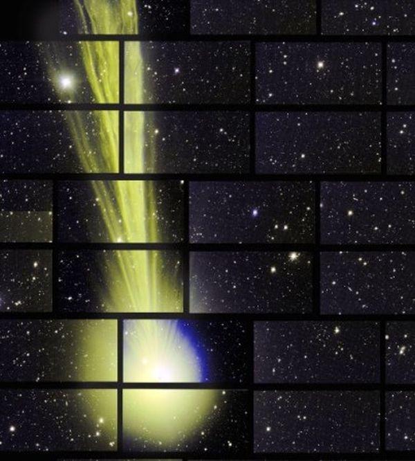 """Εκπληκτική φωτογραφία του """"πράσινου"""" κομήτη από κάμερα 560 Megapixel"""