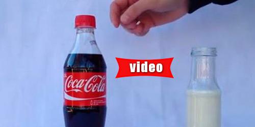 Τι γίνεται αν βάλεις γάλα σε ένα μπουκάλι με Κόκα Κόλα