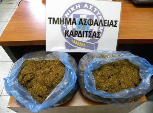 Κατασχέθηκαν 2 κιλά λαθραίου καπνού στην Καρδίτσα