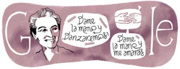 Στη χιλιανή νομπελίστρια, Γκαμπριέλα Μιστράλ αφιερώνει το doodle η Google