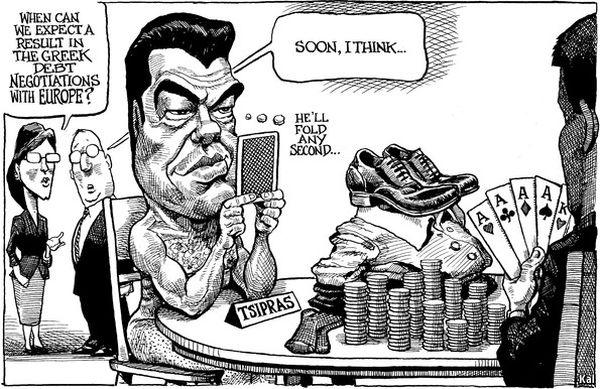 Economist: Οι δανειστές άφησαν γυμνό τον Τσίπρα [σκίτσο]