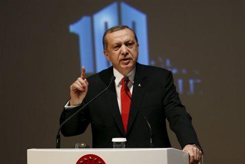 Ερντογάν κατά πάντων για την αναγνώριση της Γενοκτονίας