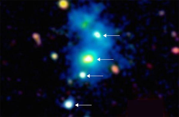 Αστρονόμοι ανακάλυψαν το πρώτο κουαρτέτο από ενεργές μαύρες τρύπες