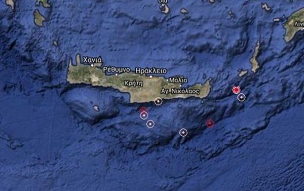 Νέος σεισμός 4,1 βαθμών ανατολικά της Κρήτης
