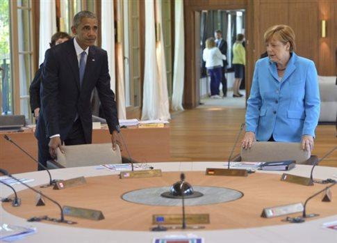 Το ελληνικό ζήτημα τέθηκε στη συνάντηση Ομπάμα - Μέρκελ
