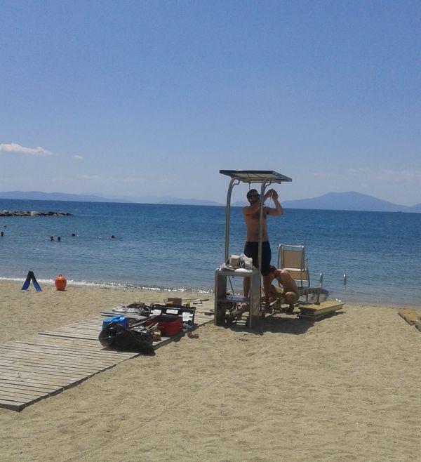 Μπάνιο με τη βοήθεια του Seatrac ~ Επέστρεψε στην παραλία του Αναύρου
