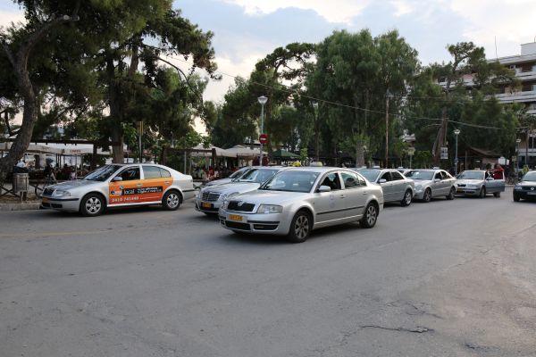 Δεν βγήκε χθες το μεροκάματο για τα ταξί λόγω των δυσμενών οικονομικών