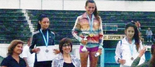 3η η Έφη Φλώρου της Νίκης Βόλου στο Πανελλήνιο Πρωτάθλημα Στίβου