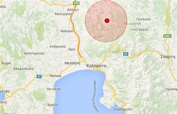 Σεισμική δόνηση έγινε αισθητή στην Καλαμάτα