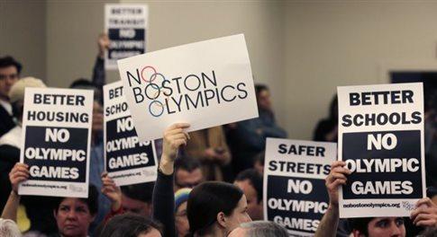 «Φρένο» στην υποψηφιότητα της Βοστώνης για τους Ολυμπιακούς του 2024