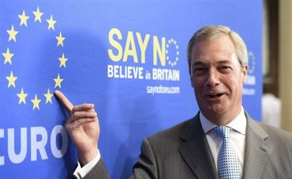 Εκστρατεία υπέρ του Brexit ξεκινά τον Σεπτέμβριο ο Φάρατζ