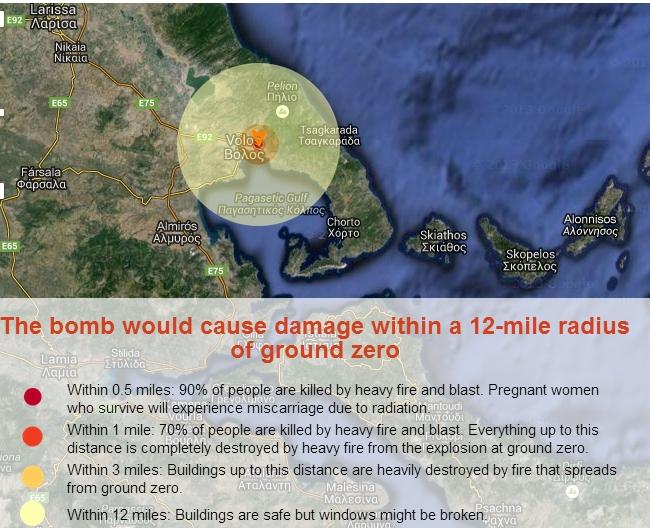 Αν έπεφτε στο Βόλο η βόμβα της Χιροσίμα