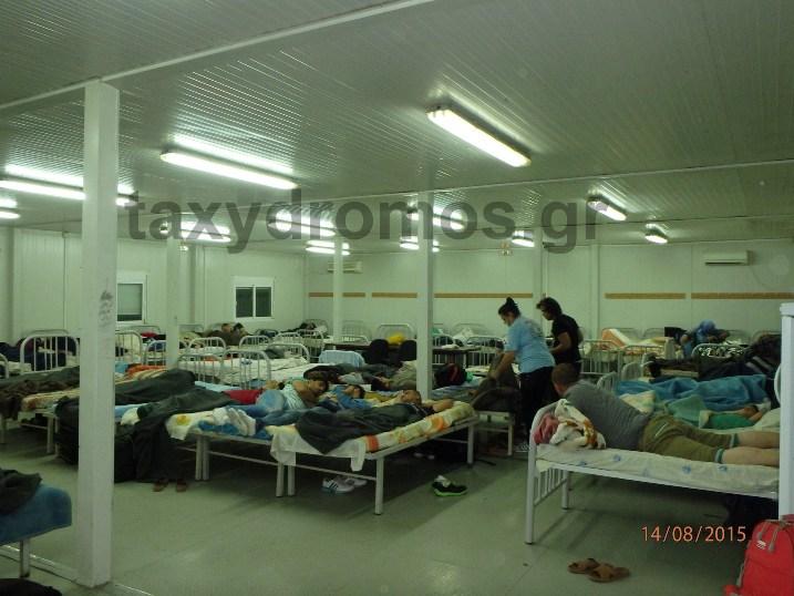 Στο Κέντρο Υποδοχής οι μετανάστες