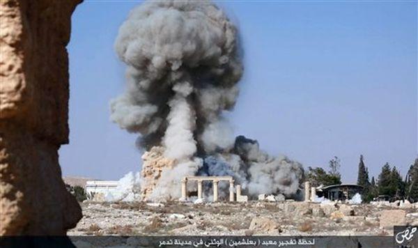 Φωτογραφίες της καταστροφής του Ναού Βάαλ δημοσιοποίησαν οι τζιχαντιστές