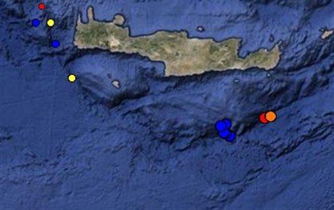 Νέες ασθενείς σεισμικές δονήσεις νότια της Ιεράπετρας