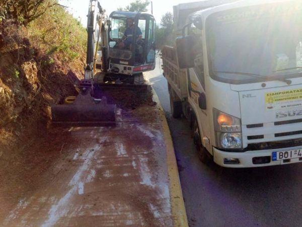 Εργασίες στο οδικό δίκτυο Μαγνησίας