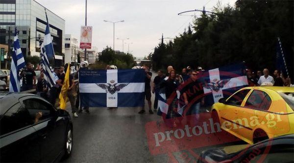 Διαμαρτυρίες στην πρεσβεία της Αλβανίας για τον Άγιο Αθανάσιο της Χειμάρρας